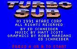 Turbo Sub Lynx Copyright info and credits