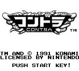 Operation C Game Boy Japanese title screen