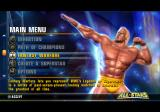 WWE All Stars PlayStation 2 Menu screen.