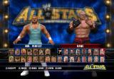 WWE All Stars PlayStation 2 Selecting a wrestler.