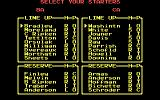 R.B.I. Baseball 2 DOS Select Your Starters (CGA)