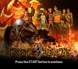 Crusty Demons PlayStation 2 Title screen.