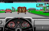 Test Drive II Scenery Disk: European Challenge DOS The road is congested with agricultural transports in Italy (EGA)