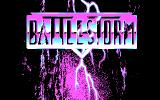 Battlestorm DOS Title screen (CGA)