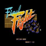 Final Fight Sharp X68000 Title screen
