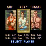 Final Fight Sharp X68000 Character selection