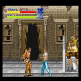 Final Fight Sharp X68000 The boss is just sitting there while Cody takes on one of his underlings