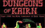 Dungeons of Kairn DOS Animated title screen