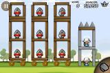 Siege Hero iPhone Fortress age 1-43, the wheels start rolling when the structure gets out of balance