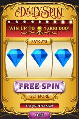 Bejeweled Blitz iPhone A new feature: Daily spin. Chance to win extra coins.
