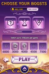 Bejeweled Blitz iPhone Boosts, a feature that gives advantages in the game. The price is coins that can either be collected in-game or purchased for real money.