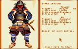 Conquest of Japan Amiga Start options.