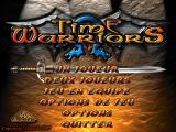 Time Warriors DOS Main menu