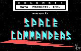 Space Commanders DOS Title screen (No color mode)