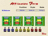 Player Manager 2 DOS Application form