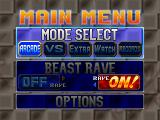Bloody Roar PlayStation Main menu