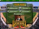 Tony La Russa Baseball 3 DOS Main menu