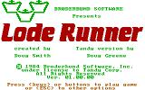 Lode Runner PC Booter Title screen (Tandy version)