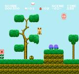 Koneko Monogatari: The Adventures of Chatran NES Jumping up and down on tree branches can loosen fruit and other items