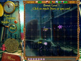 The Treasures of Montezuma Windows The Accuracy bonus mini-game is like a shooting gallery. Click on the flying stars as they speed across the screen.