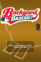 Backyard Baseball '09 Nintendo DS Title Screen