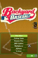 Backyard Baseball '09 Nintendo DS The Main Menu