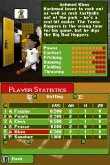 Backyard Baseball '09 Nintendo DS Stats from the game.