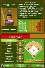 Backyard Baseball '09 Nintendo DS Adjust your line up here.