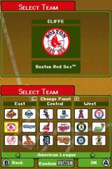 Backyard Baseball '09 Nintendo DS Team select screen
