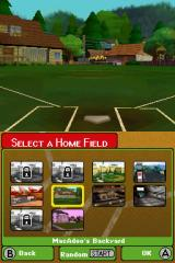 Backyard Baseball '09 Nintendo DS You can choose from a bunch of different fields