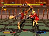 Bloody Roar II PlayStation Yugo is slashing Jenny with his claws