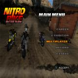 Nitrobike PlayStation 2 Menu screen.