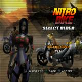 Nitrobike PlayStation 2 Rider selection.