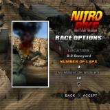 Nitrobike PlayStation 2 Race selection/setup screen.