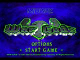 War Gods PlayStation Title screen