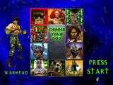War Gods PlayStation God select screen