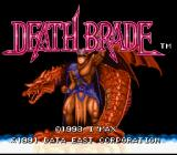 Mutant Fighters: Death Brade SNES Title screen