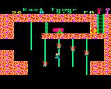 Citadel BBC Micro Jumping between ropes while avoiding the creatures