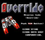 Override TurboGrafx-16 Title screen
