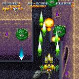 Sorcer Striker Sharp X68000 Check out the powered-up green weapon!..