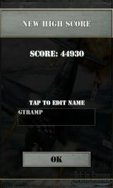 Air Attack Android High score entry