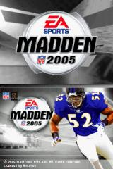 Madden NFL 2005 Nintendo DS The Title Screen.
