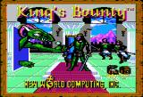 King's Bounty Apple II Title screen.