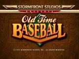 Old Time Baseball DOS Title screen