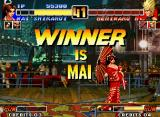 The King of Fighters '96 Neo Geo Mai shiranui is dressing kimono as victory pose