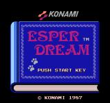 Esper Dream NES Title Screen