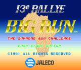 Jaleco Rally: Big Run - The Supreme 4WD Challenge SNES Title Screen