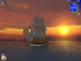 A pirate ship and a sunset.. doesn't get prettier.