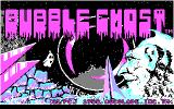 Bubble Ghost DOS Main title screen (CGA)