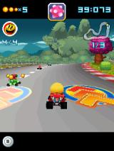 Pac-Man Kart Rally 3D J2ME Racing over arrows gives a speed boost